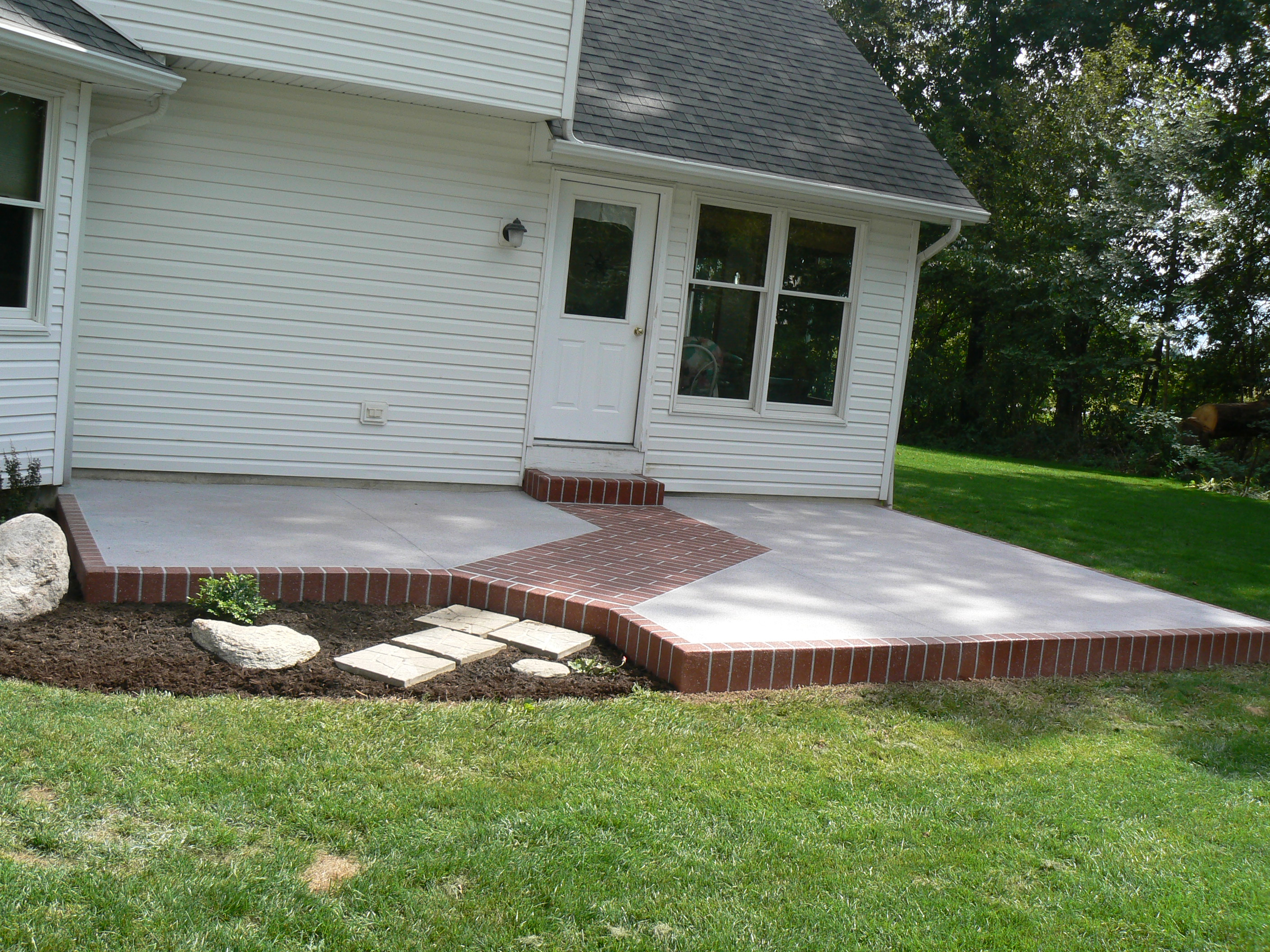 Decorative Concrete Coating On Patio Wauseon Ohio