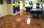 decorative basement concrete floor coatings