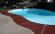 pool deck concrete stains